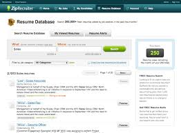 Resume Database Software And Free Resume Search Sites For Resume