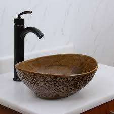 unique vessel sinks. Interesting Vessel ELITE 1551 Oval Coffee Brown Glaze Porcelain Ceramic Bathroom Vessel Sink  Sinks Stone Sinkkitchen SinkStainless Steelsink Bathroom Sink  Throughout Unique Sinks