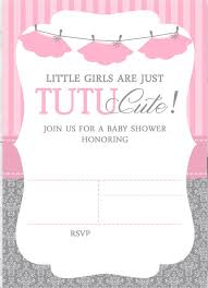 baby shower invitation blank templates cute ballerina baby shower invitations free cakraest invitation