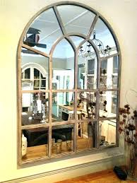decor many rustic window pane mirror mirrors for large size