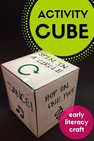 library make activity cube early literacy diy