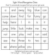 Sight Word Vocabulary Hello