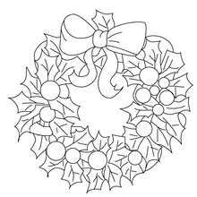 Traditional Christmas Wreath Coloring Pages Hellokidscom