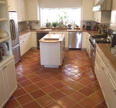 Kitchen Floor Colors Kitchen With Mexican Tile Installed On A Diagonal And Pulled For