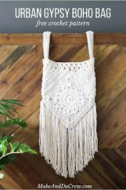 this boho bag free crochet pattern is fun to put together and loaded