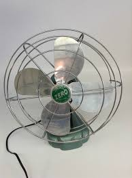 vintage zero 1265r desk fan adjule by modernartifactdecor 165 00