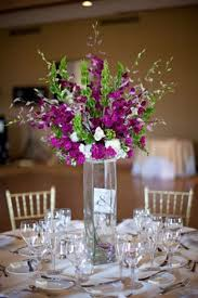 diy wedding centerpieces posts for tall purple wedding centerpieces