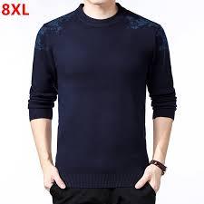 <b>Large size</b> round neck pullover sweater <b>men's loose man plus size</b> ...