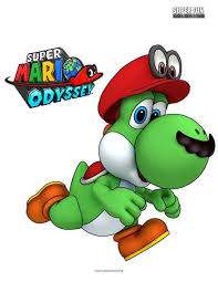Yoshi Super Mario Odyssey Coloring Sheet Super Fun Coloring Pages