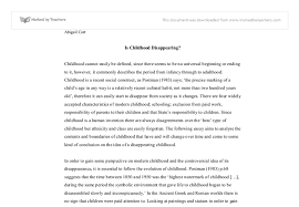 is childhood disappearing university education and teaching  document image preview