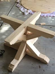 my husband is just super handy so there is no way i can explain this step however there are many tutorials for table bases you need only search