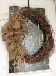Diy Fall Decorations Rustic Burlap Wreath Want To Make One For Our Front Door With
