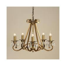 oksana brass 5 light chandelier