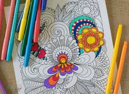 Free Printable Coloring Pages For Adults Flower Coloring Page