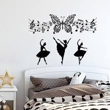 <b>Music Wall Decals</b> Removable Butterfly Art Vinyl Wall Sticker Music ...