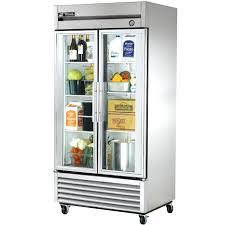 small glass door fridge refrigerator lovely for home commercial