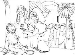 Kleurplaat Bartimeüs Kindernevendienst Bijbel Kleurplaten