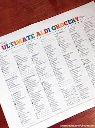 Grocery Checklist The Ultimate Aldi Grocery List