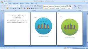 Table Of Contents Chart Microsoft Word Tutorial How To Create Table Of Contents Chart In Word
