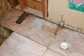 bathroom subfloor replacement. Water Damage To The Subfloor Was Clearly Visible Bathroom Replacement T