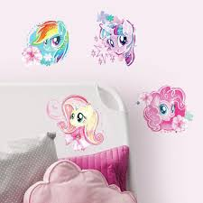 my little pony the watercolor l and stick wall decals roommates