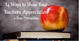 14 Ways To Show Your Teachers Appreciation