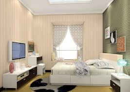 bedroom with tv. Decor Modern Bedroom With Tv Minimalist TV Wall Design 3D 13 W