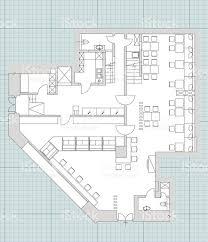 furniture floor plans. Standard Cafe Furniture Symbols On Floor Plans Royalty-free