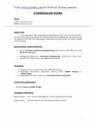 Fresher Resume Sample For Software Engineer Resume For Software Developer Fresher Unique Resume Format For 11
