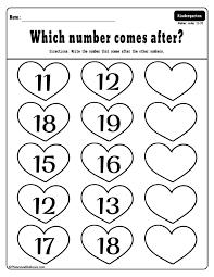 Free printable Valentine's day kindergarten worksheets bundle