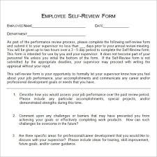 Self Evaluation Examples Template Pinterest Sample Resume