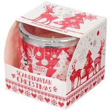<b>Свеча декоративная</b>, <b>8х7.5 см</b>, Скандинавское Рождество, в ...