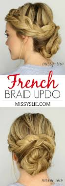 French Braid Updo Hairstyles Braid Updo
