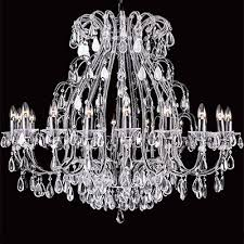 crystal chandelier impg30 finishes rustic bronze silver black 106cm dia x 96cm high chain 18 lights