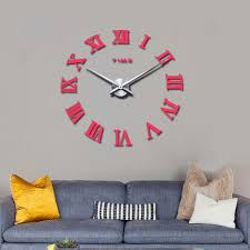 2017 new real large home decorative wall clocks quartz modern design wall clock watch horloge 3d