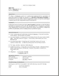Sap Fico Fresher Resume Sample