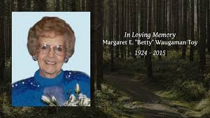 """Margaret E. """"Betty"""" Waugaman Toy - Tribute Video"""