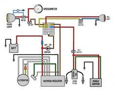 simple motorcycle wiring diagram for choppers and cafe racers custom motorcycle wiring diagram