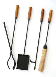 mid century modern fireplace tool set 2
