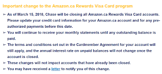 considering chase no longer accepts applications for any credit s in canada i think it s only a matter of time until marriott accounts are also