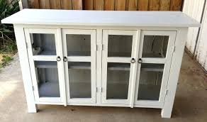 buffet with glass doors. Glass Door Sideboards Furniture Appealing White Sideboard With And Simple Buffet . Doors B