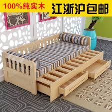 new solid wood sofa bed 18 m 15 small apartment multifunction dual folding storage ikea double