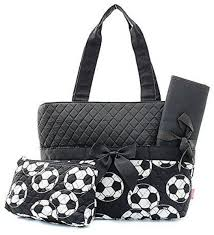 Soccer Ball Sports Print Quilted Diaper Bag Baby Changing Pad ... & Image 1 Adamdwight.com
