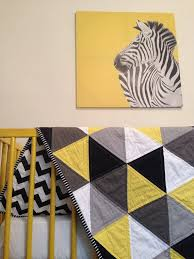 Best 25+ Cot quilt ideas on Pinterest | Baby quilt patterns ... & Geometric Cot Quilt Grey and Yellow Triangle Cot Quilt Adamdwight.com