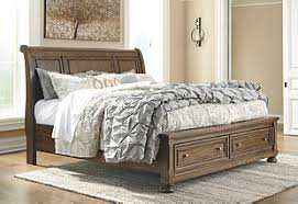 bedroom furniture storage. Brilliant Storage Large Flynnter Queen Storage Sleigh Bed Medium Brown Rollover Throughout Bedroom Furniture N