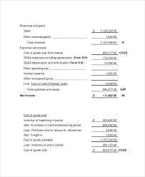 financial statement format sample income statement format experimental icon example cruzrich