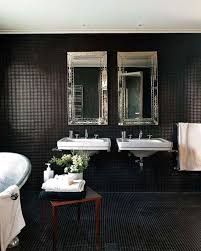 black bathroom. Mosaic Black Bathroom I