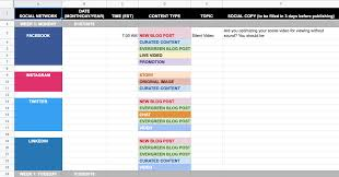 Calendar Scheduler Template 9 Social Media Templates To Save You Hours Of Work