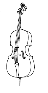 Cello Coloring Page Inside In - glum.me