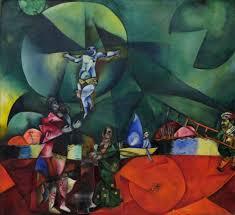 marc chagall 1912 calvary golgotha oil on canvas 174 6 x